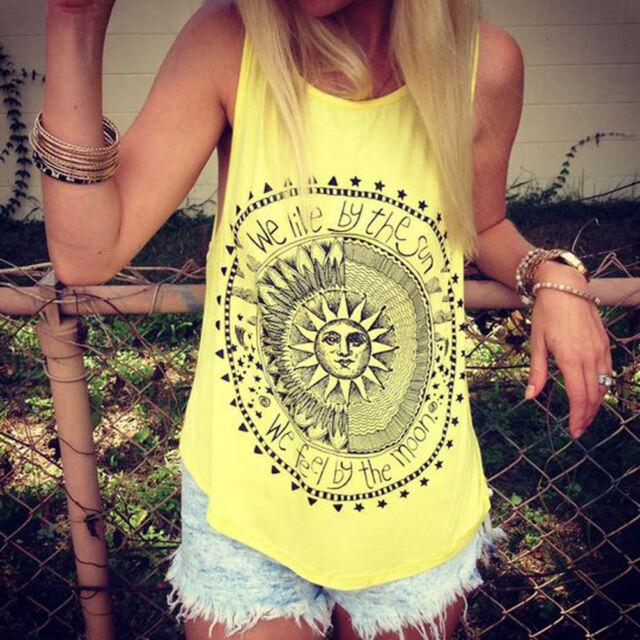 Nice Women Girl Summer Vest Top Sleeveless Blouse Casual Tank Tops T-Shirt