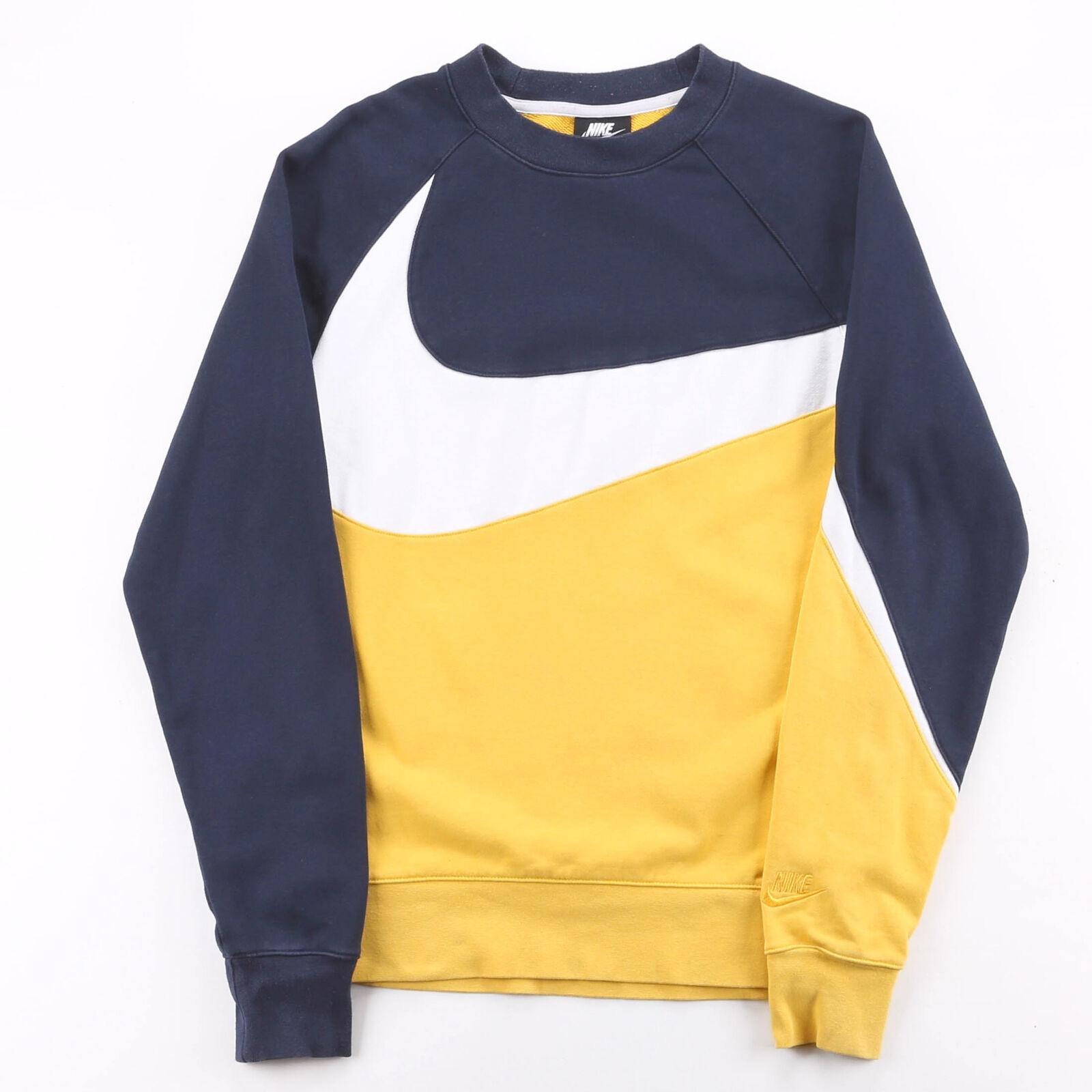 NIKE Yellow 00s Crew Neck Sweatshirt Mens XS