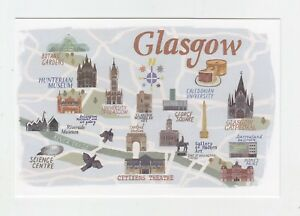 Mint-Map-Postcard-of-Glasgow-by-Star-Editions