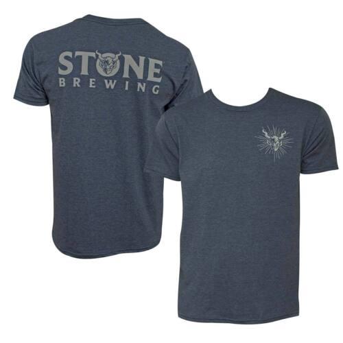 Stone Brewing Devil Logo Heather Men/'s Tee Shirt Blue