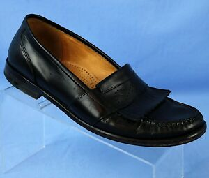 Cole Haan Black Moc Toe Kilt Penny Loafers Casual Shoes ...
