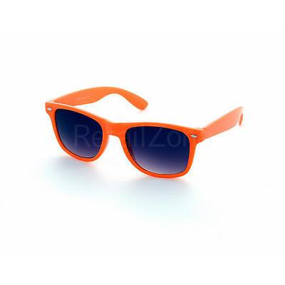Neon Orange Wayf Festival Aves Sunglasses Retro 80s Fashion Geek Tint Lenses