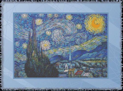 VANGOGH STARRY NIGHT~DELICA BEAD PEYOTE PDF PATTERN ONLY