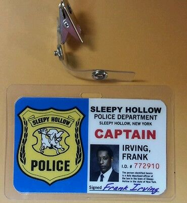 Sleepy Hollow Id Badge - Captain Frank Irving costume prop cosplay