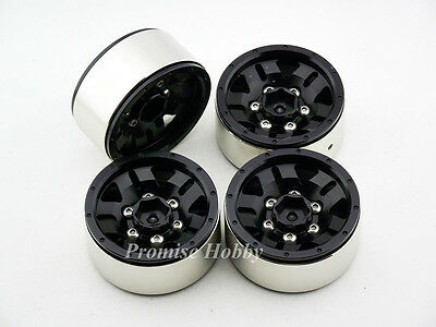 D5 spoke heavy duty beadlock alloy 1.9 wheel rim set (4pcs) for 1:10 rc crawlers