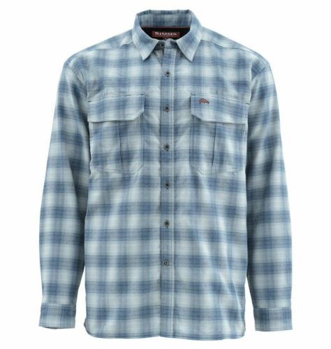 Simms Coldweather LS Shirt Sale /& Free US Shipping Admiral Blue Plaid L