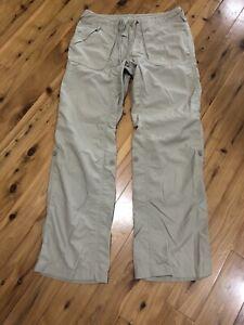 The North Face Pantalones De Senderismo Para Mujer Talla 8 Khaki Nylon Frente Plano Acampar Al Aire Libre Ebay