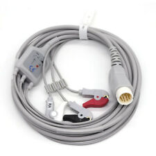 12pin Ecg Cable For Philips Hp Codemaster Xl 3leads Clip Type