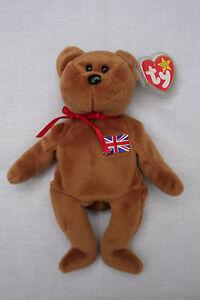 Rare Ty Beanie Baby Britannia Ours Royal Girl - 15 décembre, Royaume-Uni, numéroté et exclusif