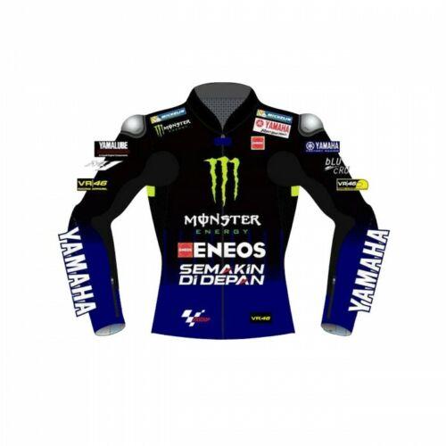 Valentino Rossi VR46 Motorcycle Cowhide Leather Street Racing Motorbike Jacket