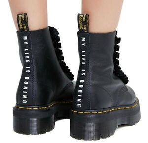 acdc4df049d Details about Dr. Martens X Lazy Oaf Jungle Boots Black Women's Size 7
