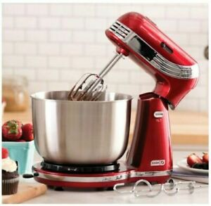 Details about Electric Stand Mixer 6 Speed Kitchen Mix Beater Tilt Head  Stainless Steel Bowl