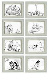 Details about Dumbo Vintage Art Drawings A4 Print Frameless