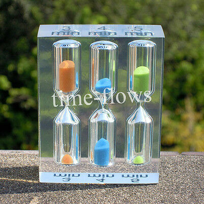 Small Acrylic Sand Glass Clock Hourglass Timer 3,4,5Min Decor Crystal Craft Gift