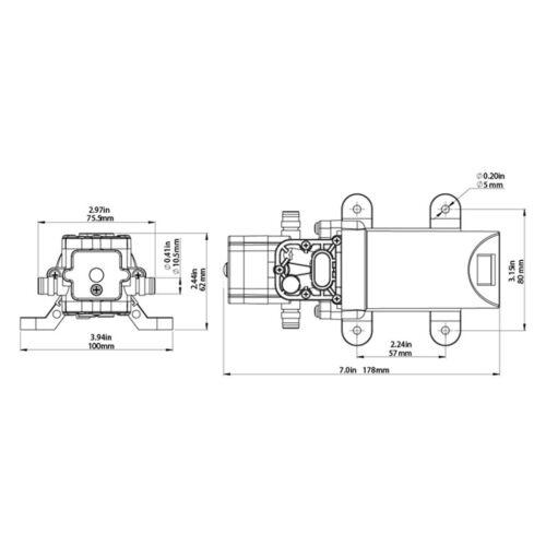 12V Water Pump 80PSI Self Priming Pump Pressure Diaphragm Automatic Switch