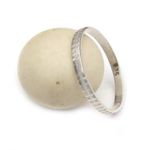 Details about  /Band Meditation Ring Solid 925 Sterling Silver Ring All Sizes GESR53