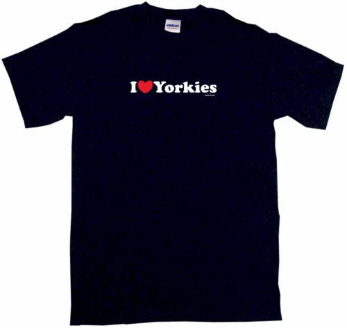 I heart Yorkies Men/'s Tee Shirt Small-6XL 12 Colors S//S /& L//S Love