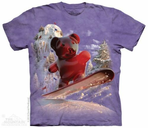 The Mountain 100/% Cotton Kid/'s T-Shirt Youth Tee Gummy Bear S-M-L Made in US NWT
