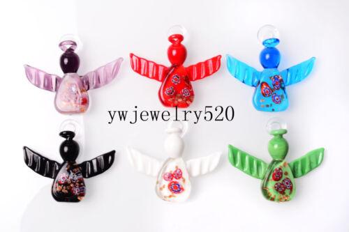 FREE Wholesale Lots 12Pcs Charms angle en verre de Murano Perles Pendentifs Fit Collier