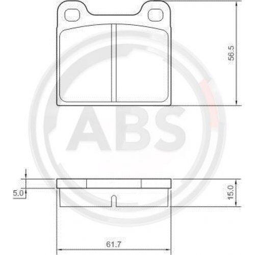 A.B.S 36009 Bremsbelagsatz Scheibenbremse