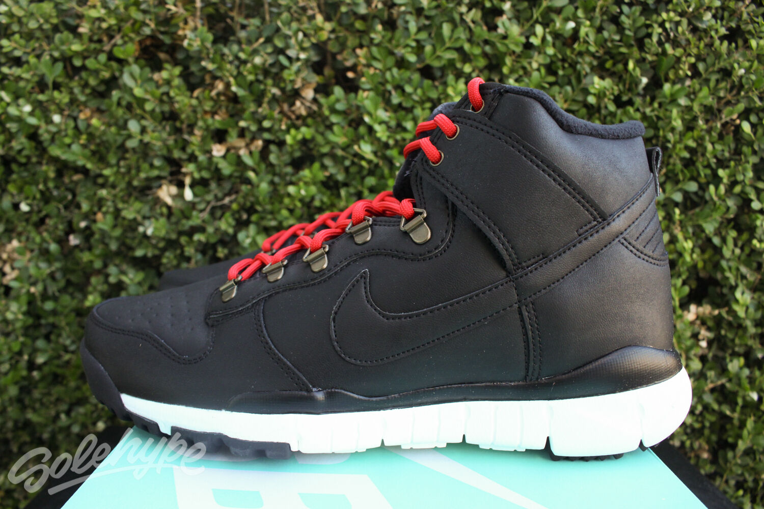 NIKE SB DUNK HIGH BOOT OMS SZ 8 BLACK ALE BROWN ON MOUNTAIN SERIES 806335 012