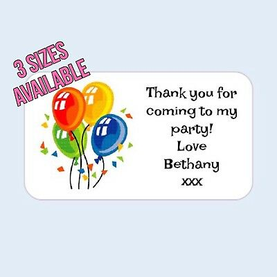Stickers Thank You Seals Thank You Party 35 Personalised Neutral Baby Shower