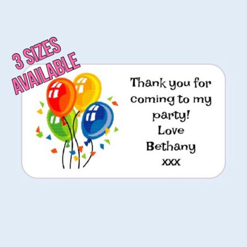 Personalised thank you baby shower//birthday//labels//stickers//party//bags//balloons