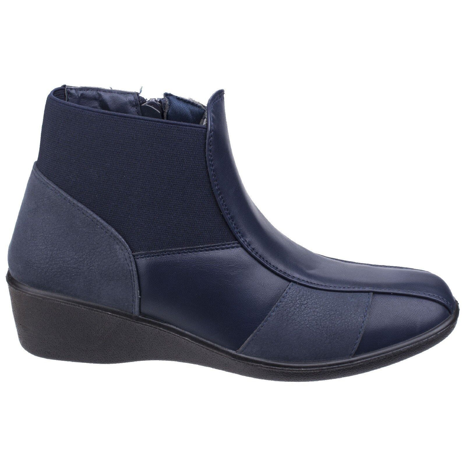Fleet & Foster Foster Foster Festa Ankle Boots Low Wedge Pull On Ladies boots UK 3-8 Womens ef20d6