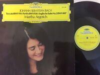DG 2531 088 JS Bach Toccata BWV 911 Partita BWV 826 English Suite Martha Argeric