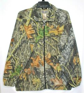 Jerzees-Outdoor-Fleece-Camoflage-Jacket-Mens-Size-XL-Full-Zip-Hunting-Camping