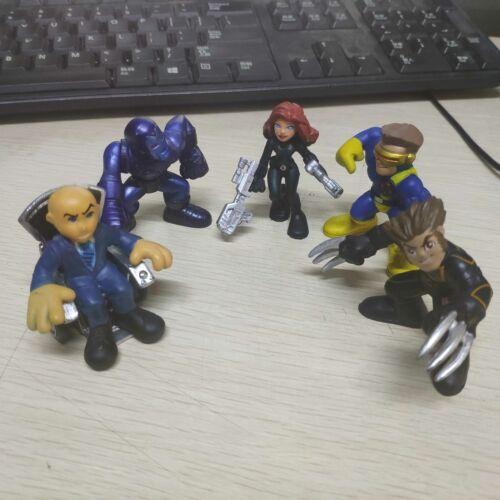 MARVEL SUPER HERO SQUAD Professor X Black Widow Ironman Wolverine Cyclops