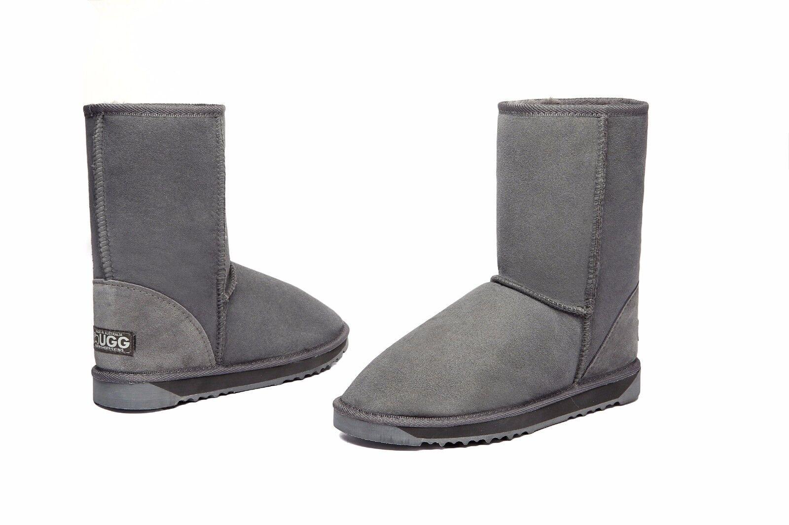 7a06c62ebbc 100% 100% australiska Made 3 Sheepskin Classic/4 UGG Boots Grå, Kort ...