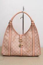 Gucci GG Imprime Crystal Joy Shoulder Bag Pink Authentic Used