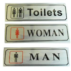 Door-Signs-Toilet-Ladies-Gents-Sign-Plaques-Adhesive-Bathroom-WC-Walls-Stickers