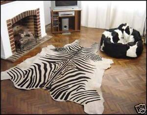 Image Is Loading Zebra Print Cowhide Rug Hide Skin Size