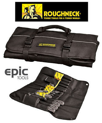 ROUGHNECK 33 Pocket Tool Roll Bag Case Pouch For Pliers Screwdrivers, RNKTROLL