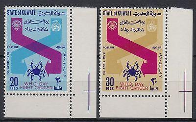 Sinnvoll Kuwait 1970 ** Mi.496/97 Er Weltgesundheitstag World Health Day Cancer st2180 Briefmarken