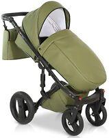 Isofix New Baby Pram Buggy 3in1 Stroller Pushchair Car Seat  Travel System