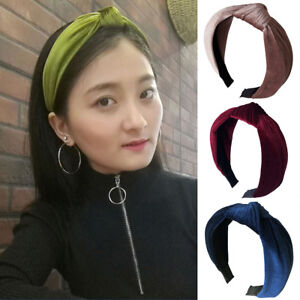 0506e04910b3d WOMEN HEADBAND TWIST HAIRBAND BOW KNOT CROSS TIE VELVET HEADWRAP ...