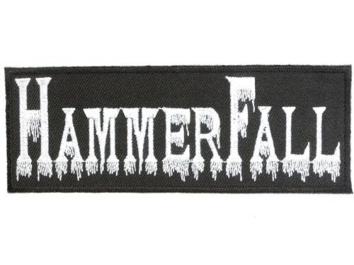 "HAMMERFALL Logo Heavy Metal Iron On Sew On Shirt Applique Badge Patch 4.6/"""