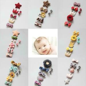 7-teile-satz-Kinder-Baby-Maedchen-Haar-Clips-Bogen-Haarnadel-Stirnband-Headw-Q3C4