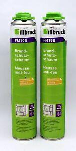 2 Stück 750ml Dose Illbruck 1K Brandschutzschaum 2in1 FM190 B1 nach DIN 4102
