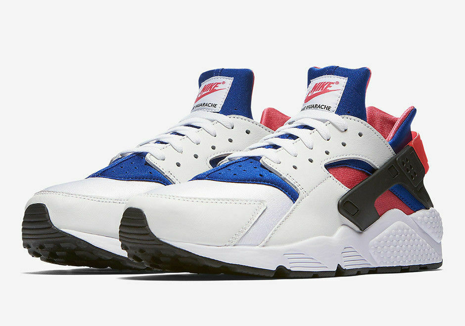 Mens Nike Air Huarache Run ´91 QS AH8049-100 White Game Royal NEW Sz 9