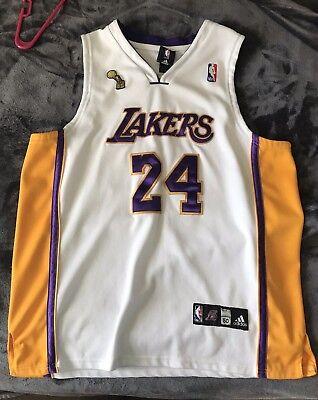 Adidas Kobe Bryant Los Angeles Lakers Authentic Jersey Size 50 Championship | eBay