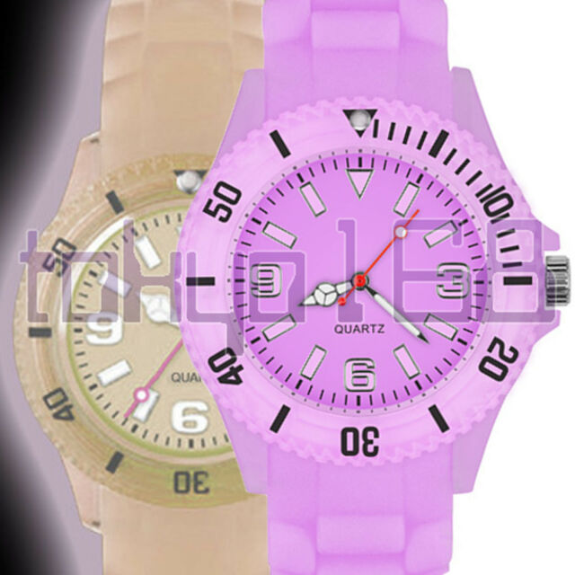 Glow in the Dark Silicone Rubber Watch 9 Ice Cool Colours Toy NEW ~tokyo168