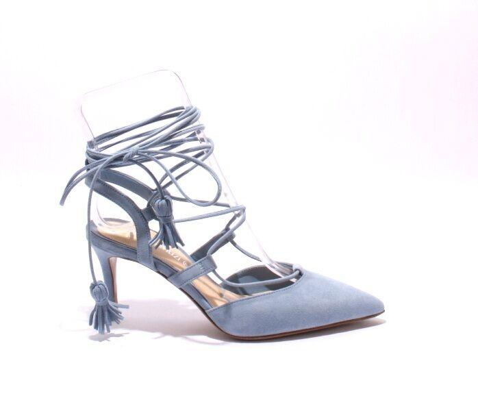 Nando Muzi 178c Sky Blau Suede Strappy Pointy Stiletto Stiletto Stiletto Heel Sandal 39   US 9 7ee0ed