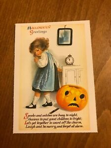 Retro-Halloween-Themed-Postcard-34-NEW-Pagan-Wicca-Gothic