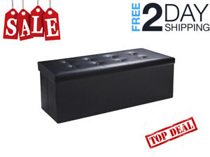 End Of Bed Storage Bench Seat Black Foot of Bed King Size ...