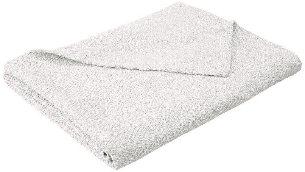 Utopia Bedding Woven Cotton Blanket Beige, Twin//Twin XL