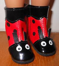 Chaussures bottes 5.5 x 2.8 cm coccinelle rouge noir poupée paola reina amigas
